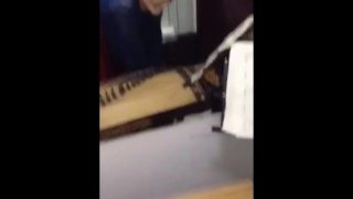 Chinese girl get fucked while she is playing music